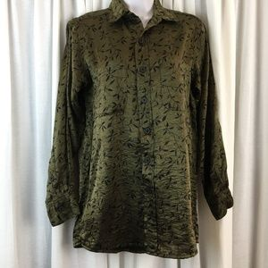 Chico's Design Blouse Size 0 Small 4 Sheer